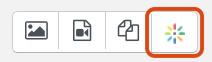 embed button on toolbar