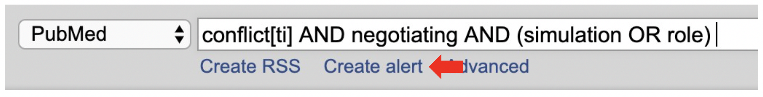 Create alert in PubMed